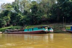 Ταξίδι βαρκών στο ποταμό Μεκόνγκ Luang Prabang, Λάος στοκ φωτογραφίες