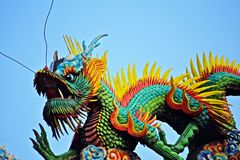 Ταϊβανικός δράκος ναών στοκ εικόνες