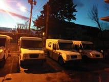 Ταχυδρομικά φορτηγά στοκ εικόνα με δικαίωμα ελεύθερης χρήσης