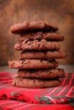 Τα καφετιά μπισκότα, κλείνουν επάνω στοκ εικόνα με δικαίωμα ελεύθερης χρήσης