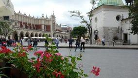 Τετράγωνο αγοράς της Πολωνίας Κρακοβία Βασικό τετράγωνο στοκ φωτογραφίες