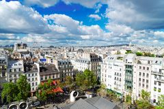 Τετράγωνο Georges Pompidou, Παρίσι στοκ φωτογραφία με δικαίωμα ελεύθερης χρήσης