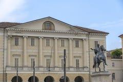 Τετράγωνο Mazzini σε Casale Monferrato, Piedmont στοκ φωτογραφίες