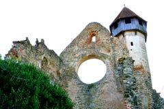 τοίχοι Καταστροφές του μεσαιωνικού κιστερκιανού αβαείου στην Τρανσυλβανία στοκ εικόνες