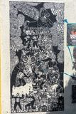 Τοίχος τέχνης εγγράφου σε Oaxaca, Μεξικό στοκ εικόνες