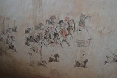 Τοιχογραφίες στη δυναστεία του Tang στοκ φωτογραφίες με δικαίωμα ελεύθερης χρήσης