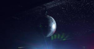 Τοπίο ενός disco Ελαφριά κοu'φώματα σφαιρών Disco συναυλία σκηνή φιλμ μικρού μήκους