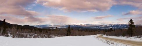 Τοπίο της αγριότητας Yukon Καναδάς χειμερινού taiga στοκ φωτογραφίες