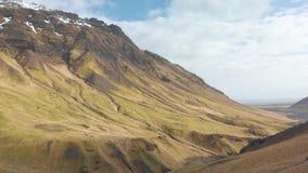 τοπίο της Ισλανδίας απόθεμα βίντεο