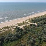 Τοπ άποψη της θάλασσας Azov στοκ φωτογραφία με δικαίωμα ελεύθερης χρήσης