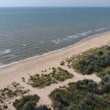 Τοπ άποψη της θάλασσας Azov στοκ εικόνες
