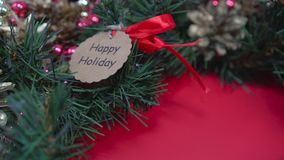 Το αγροτικό επίπεδο στεφανιών Χριστουγέννων βρέθηκε Παραγωγή του στεφανιού στο εργαστήριο φιλμ μικρού μήκους