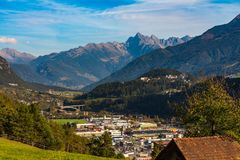 Το βουνό Imsterberg κοντά σε Imst στο Tirol, Αυστρία, Ευρώπη στοκ εικόνες