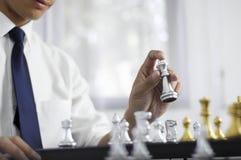 Το επιχειρησιακό σκάκι, έξυπνη επιχείρηση, επιχειρησιακό παιχνίδι κάθε ανταλλαγή παιχνιδιών είναι σημαντικό στοκ εικόνες