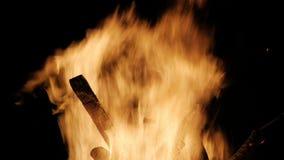 Το κάψιμο συνδέεται πορτοκαλή στενό επάνω φλογών Κόκκινες φλόγες που ξεχύνονται σαν θάλασσα επάνω απόθεμα βίντεο