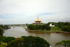 Το Κοινοβούλιο Sarawak και το οχυρό της Margherita, Kuching στοκ εικόνες με δικαίωμα ελεύθερης χρήσης