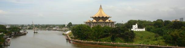 Το Κοινοβούλιο Sarawak και το οχυρό της Margherita, Kuching στοκ εικόνα με δικαίωμα ελεύθερης χρήσης