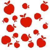 Το κόκκινο σχέδιο μήλων διανυσματική απεικόνιση