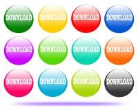 Το λογότυπο κουμπιών σχεδίων μεταφορτώνει ελεύθερη απεικόνιση δικαιώματος