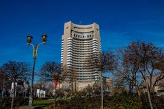 Το διηπειρωτικό ξενοδοχείο στο Βουκουρέστι Ρουμανία στοκ εικόνα με δικαίωμα ελεύθερης χρήσης