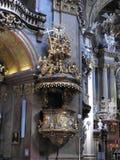 Το όμορφο εσωτερικό της εκκλησίας Peterskirche, ένας μπαρόκ Ρωμαίος του ST Peter - καθολική εκκλησία κοινοτήτων στη Βιέννη, Αυστρ στοκ εικόνες