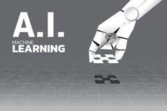 Το χέρι ρομπότ έβαλε το τελευταίο τορνευτικό πριόνι για να ολοκληρώσει διανυσματική απεικόνιση