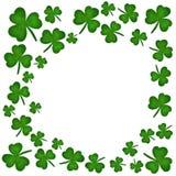 Το πλαίσιο, λουλούδι τριφυλλιού προσωποποιεί το ST Patrick' s ημέρα στις 17 Μαρτίου ελεύθερη απεικόνιση δικαιώματος