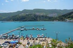 Το Amasra είναι μια μικρή παραθεριστική πόλη θάλασσας στην περιοχή Bartin - Μαύρης Θάλασσας στην Τουρκία στοκ εικόνα