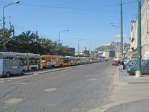 Τραμ και λεωφορεία στις οδούς Ιταλία στοκ φωτογραφία με δικαίωμα ελεύθερης χρήσης