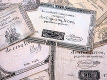 Τραπεζογραμμάτια της Γαλλίας του πρόσφατου δέκατου όγδοου αιώνα στοκ φωτογραφίες με δικαίωμα ελεύθερης χρήσης