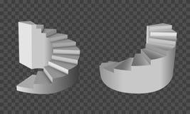 τρισδιάστατα σπειροειδή σκαλοπάτια E r ελεύθερη απεικόνιση δικαιώματος