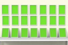 Τρισδιάστατη απεικόνιση γκαλεριών τέχνης frames_Photo εικόνων στοκ φωτογραφία με δικαίωμα ελεύθερης χρήσης