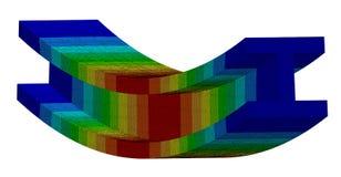 τρισδιάστατη απεικόνιση Isometric πλοκή εκτροπής μιας ακτίνας Ι στην κάμψη διανυσματική απεικόνιση