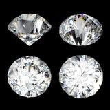 τρισδιάστατος δώστε, καθαρίστε το διαμάντι, λαμπρός, πολύτιμος πολύτιμος λίθος, εικονίδιο κοσμημάτων, άποψη προοπτικής, σύνολο τέ ελεύθερη απεικόνιση δικαιώματος