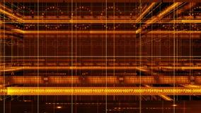Τρισδιάστατος παν βρόχος υποβάθρου 4K τεχνολογίας κύκλων γραμμών αριθμών ελεύθερη απεικόνιση δικαιώματος