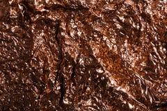 Τσαλακωμένος αυξήθηκε χρυσό φύλλο αλουμινίου ως υπόβαθρο στοκ εικόνες