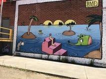 Τυχερή επιχείρηση τέχνης οδών κοντά στην κατοικία μου στοκ εικόνες
