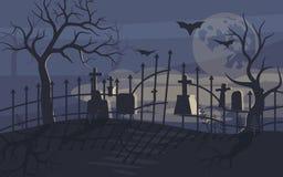 Φάντασμα και zombie στο τρομακτικό υπόβαθρο αποκριών ελεύθερη απεικόνιση δικαιώματος