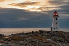 Φάρος NS Καναδάς όρμων Peggys προορισμού ταξιδιού στοκ εικόνα με δικαίωμα ελεύθερης χρήσης