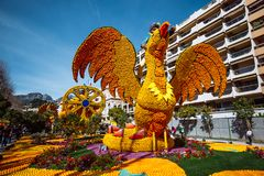 Menton Lemon Festival 2019, Art made of lemons and oranges. Fantastic Worlds Theme