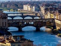 Φλωρεντία με τον ποταμό και το Ponte Vechio Arno στοκ φωτογραφία με δικαίωμα ελεύθερης χρήσης
