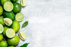 Φρέσκος juicy ασβέστης με τα φύλλα στοκ φωτογραφία με δικαίωμα ελεύθερης χρήσης