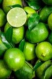 Φρέσκος juicy ασβέστης με τα φύλλα στοκ εικόνα