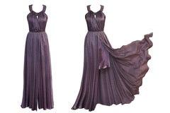 Φόρεμα πολυτέλειας κολάζ στο απομονωμένο υπόβαθρο στοκ εικόνες με δικαίωμα ελεύθερης χρήσης