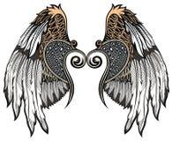 Φτερά αγγέλου Στοιχεία σχεδίου για το λογότυπο απεικόνιση αποθεμάτων