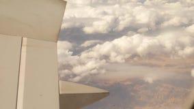 Φτερό αεροπλάνων από το παράθυρο απόθεμα βίντεο