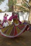 Φυλετικοί χορευτές στο Jaipur, Ινδία στοκ φωτογραφία