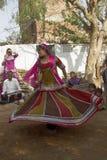 Φυλετικοί χορευτές στο Jaipur, Ινδία στοκ φωτογραφία με δικαίωμα ελεύθερης χρήσης