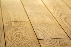 Φυσικοί ανοικτό καφέ ξύλινοι πίνακες πατωμάτων παρκέ Ηλιόλουστη μαλακή κίτρινη σύσταση, διαστημικό υπόβαθρο προοπτικής αντιγράφων στοκ εικόνες