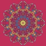 Φωτεινό στοιχείο mandala για το σχέδιό σας διανυσματική απεικόνιση